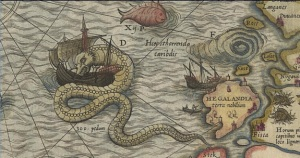 Sea Serpent on a Map
